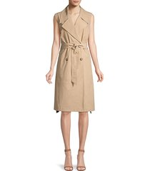 peserico women's tech cotton trench dress - camel - size 44 (8)