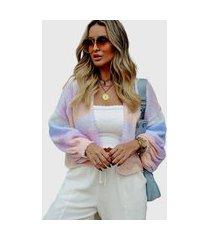 blusa de tricô feminina casaqueto ana julia candy colors