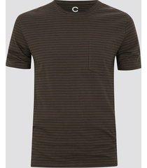 t-shirt med ränder - brun