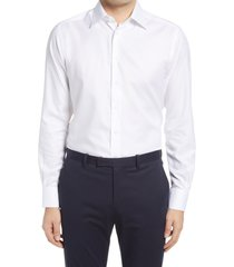men's suitsupply traveler classic fit dress shirt, size 15r - white