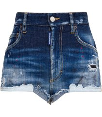 destroyed shorts with painted details
