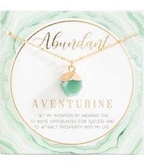 abundant adventure power stone necklace - mint