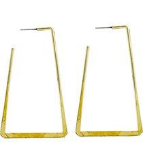 panacea rectangle hoop earrings in gold at nordstrom