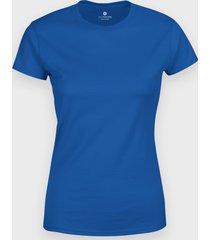 damska koszulka (bez nadruku, gładka) - niebieska