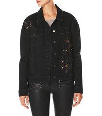rosie hw x paigejosephine embellished boyfriend denim jacket