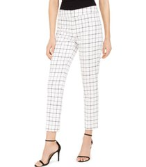 nine west plaid skinny pants