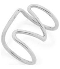 brinco bijoulux ear cuff formado por aro torcido semi jóia