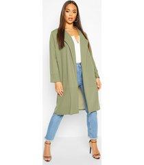 tailored duster coat, khaki