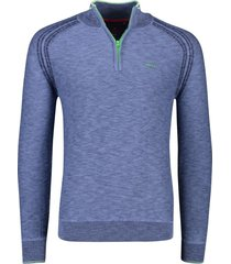 new zealand pullover methven blauw melange