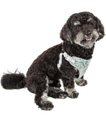 pet life 'fidomite' reversible and adjustable dog harness with bowtie