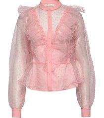 leda blus långärmad rosa custommade