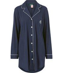 nattskjorta lrl hammond knit collar sleepshirt
