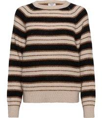 day essence striped gebreide trui bruin day birger et mikkelsen
