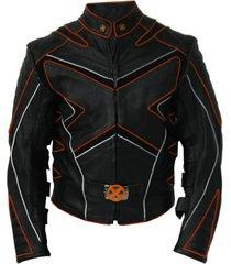 handmade custom new men xmen style biker motorcycle leather jacket, biker jacket