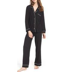 women's eberjey 'giselle' pajamas, size x-large - black