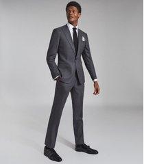 reiss bounce - wool slim fit blazer in grey, mens, size 46