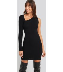 na-kd party cut out asymmetric mini dress - black