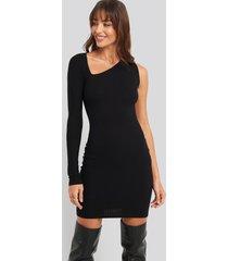 na-kd party cut out asymmetric mini dress - black