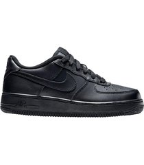 zapatilla negra nike air force 1 (gs)