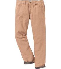 pantaloni termici in twill regular ft (marrone) - john baner jeanswear