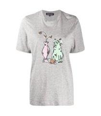 markus lupfer camiseta alex com paetês - cinza