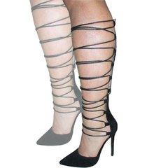 tacones tipo romano negro shoe republic macaroni