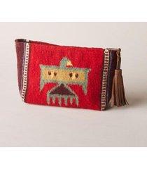 sundance catalog women's aquila pouch in red