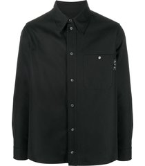 off-white logo-print work shirt - black
