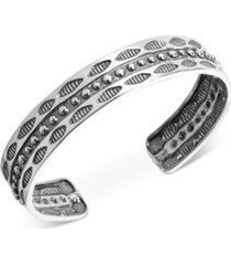 american west decorative wisdom cuff bracelet in sterling silver