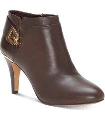 vince camuto women's vernaya heeled buckle dress booties women's shoes