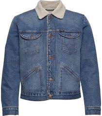 124wj sherpa jeansjack denimjack blauw wrangler