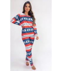 pijama de manga longa raglan estampa digital (moose) - ref: k2801