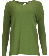 fijn gebreide trui milan  groen