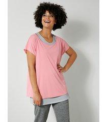 shirt en topje janet & joyce rozenhout::grijs