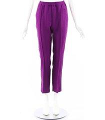 golden goose deluxe brand matsuri purple wool ankle pants purple sz: m