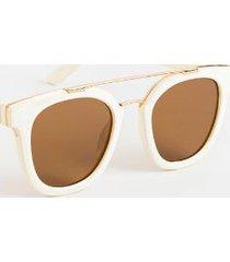 trina round sunglasses - white