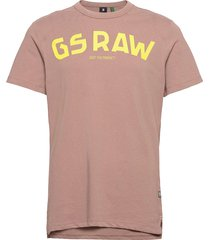 gsraw gr r t s\s t-shirts short-sleeved rosa g-star raw