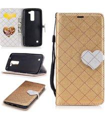 lg k8 case, lg escape 3 case,xyx love hit color leather folio flip card slots ma