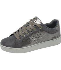 zapatillas mujer deportivas gris enrico coveri lollo nylon naplack