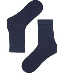 calzedonia short warm cotton socks man blue size 44-45