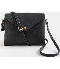 melanie envelope crossbody handbag - black