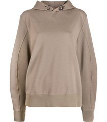 1017 alyx 9sm drawstring long-sleeve hoodie - neutrals