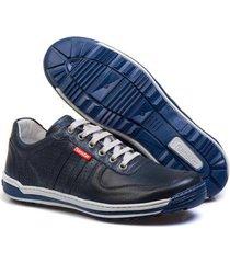 sapatênis casual conforto top franca shoes masculino - masculino
