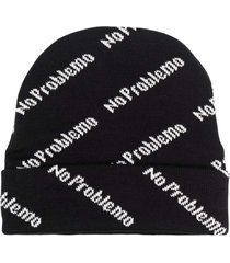 aries wool bennie hat with no problemo allover print