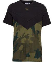 camo block t t-shirts short-sleeved grön adidas originals