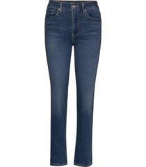 724 high rise straight bogota skinny jeans blå levi´s women