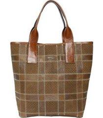 bolsa couro griffazzi shopping bag feminina