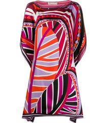 emilio pucci graphic-print beach dress - pink