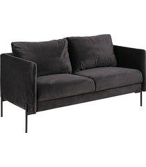 sofa welurowa dwuosobowa sofia dark grey