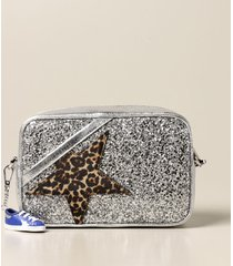 golden goose crossbody bags star golden goose bag in laminated leather and glitter